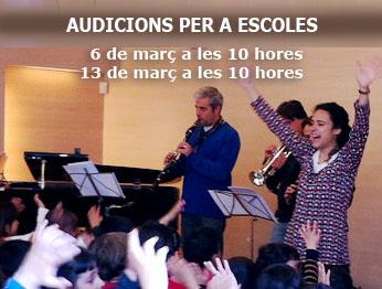 AUDICIONS PER A ESCOLES