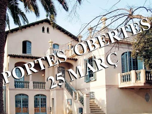 PORTES OBERTES – 25 DE MARÇ