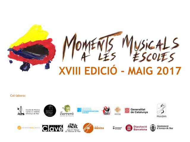 MOMENTS MUSICALS – 12, 18, 23 i 27 DE MAIG 2017 MAIG 2017