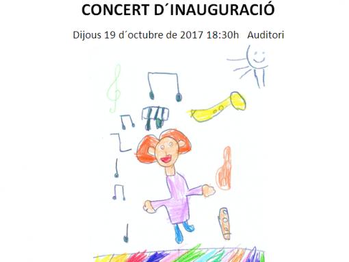 CONCERT D'INAUGURACIÓ 19 d'octubre