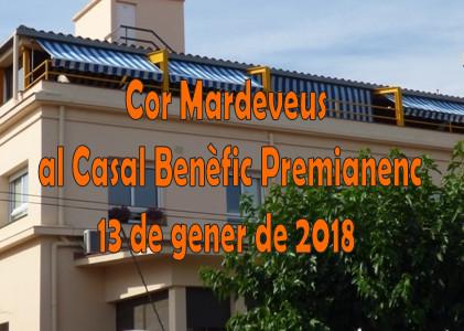 Actuació del Cor Mardeveus al Casal Benèfic dissabte 13 de gener